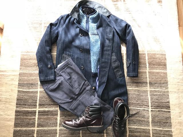 コート;ナナミカ ジャケット;レミレリーフ スボン;トゥモローランド ブーツ;CEBO