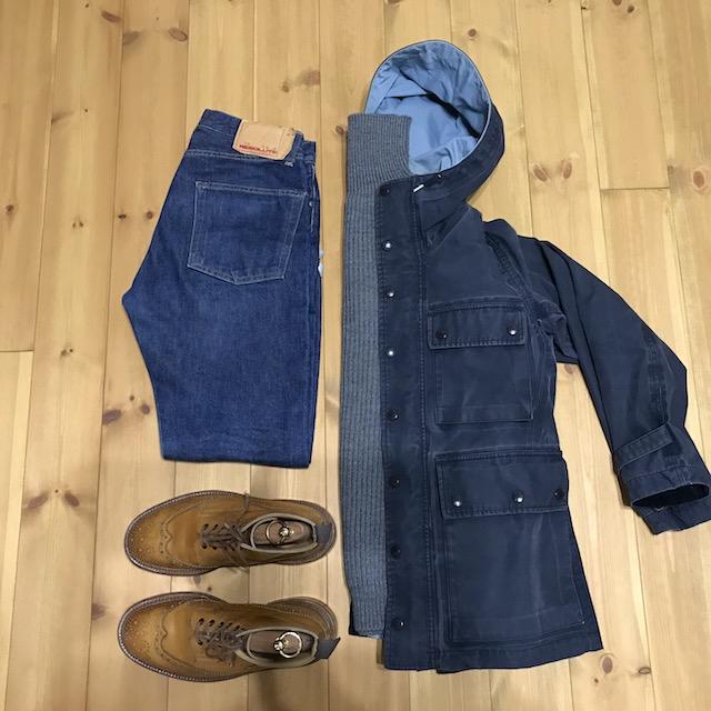 ジャケット;ナナミカ ニット;アンデルセンアンデルセン ジーパン;RESOLUTE 710 ブーツ;トリッカーズ