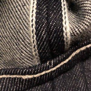 ごくさんオーバーテックのコットン:ウールデニムの黒耳